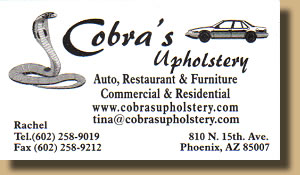 Cobr'a Upholstery